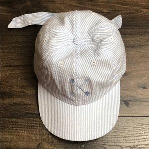 Lauren James blue seersucker bow hat